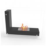 Regal Flame EF6001BK Avec Ventless Free Standing Ethanol Fireplace in Black