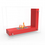 Regal Flame EF6001R Avec Ventless Free Standing Ethanol Fireplace in Red
