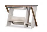 Baxton Studio Tyler Wood Writing Desk With Three Open Storage