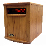 Original SUNHEAT Amish Hand Crafted Infrared Heater - Nebraska Oak