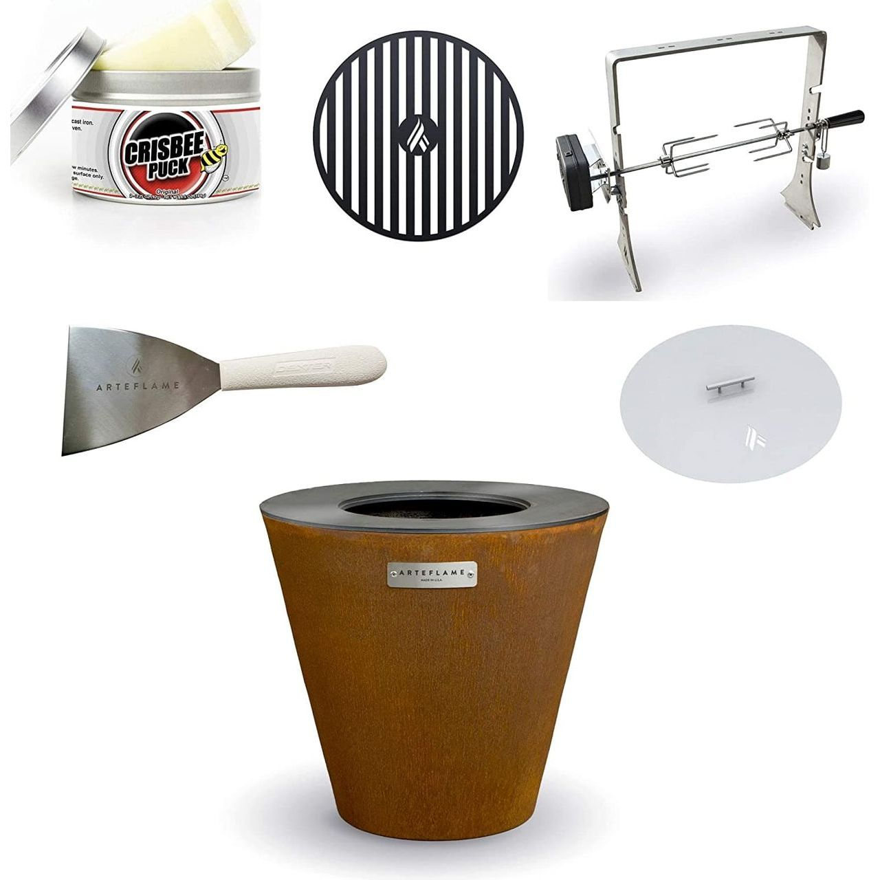 """Arteflame One 20"""" Grill/5-Pc Home Chef Bundle"""