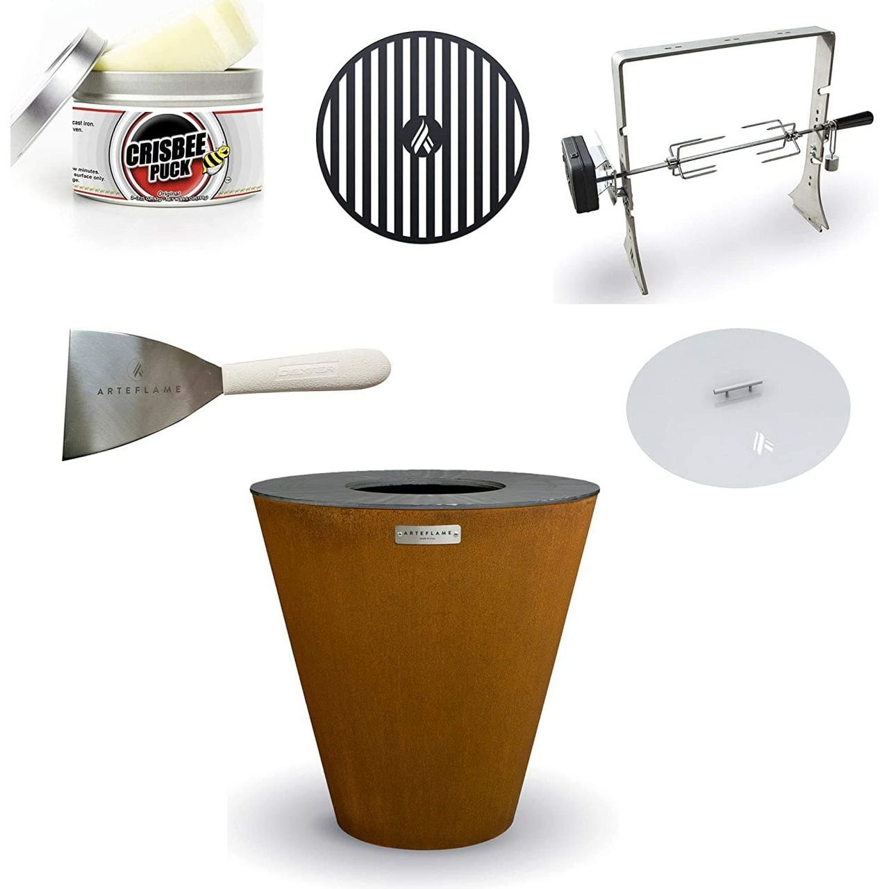 """Arteflame One 20"""" Grill/10-Pc Home Chef Max Bundle"""