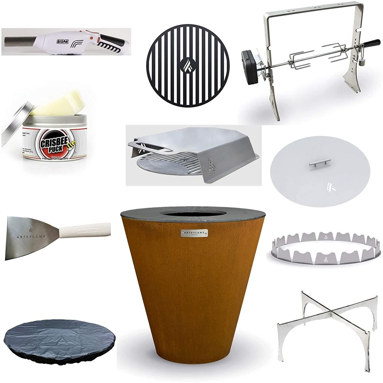 """Arteflame One 30"""" Grill/10-Pc Home Chef Max Bundle"""