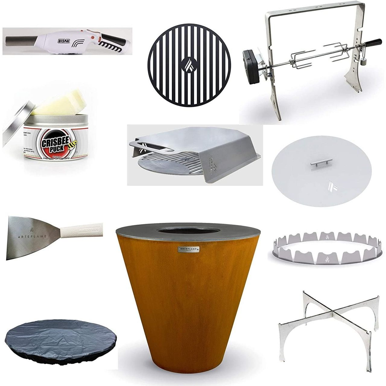 """Arteflame One 40"""" Grill/10-Pc Home Chef Max Bundle"""
