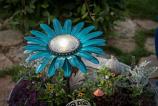 Desert Steel 409-305 Daisy Solar Garden Light - Teal