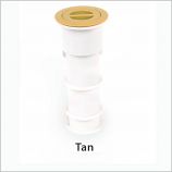 Color Match PH-08 7in Standard Pole Holder Assembly - Tan