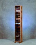 Solid Oak Tower for DVD's Model 110-4 DVD