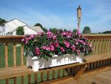 White Deck Planter 9302483700 By Adams Mfg