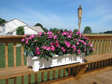 White Deck Planter 9302483700 By Adams Mfg
