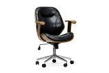 Rathburn Walnut and Black Modern Office Chair