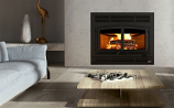 "Horizon Wood Fireplace with 4 Lengths of 8"" X 36"" Ventis Chimney"