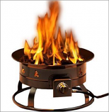 Portable Propane Outdoor Fire Pit with Accessories