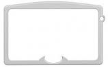 Osburn OA10092 Brushed Nickel Cast Iron Door Overlay