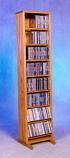 Solid Oak Dowel Cabinet for CD's Model 806-12