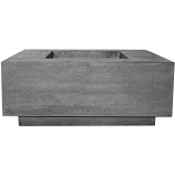 Prism Hardscapes Tavola 7 Fire Table in Pewter - NG