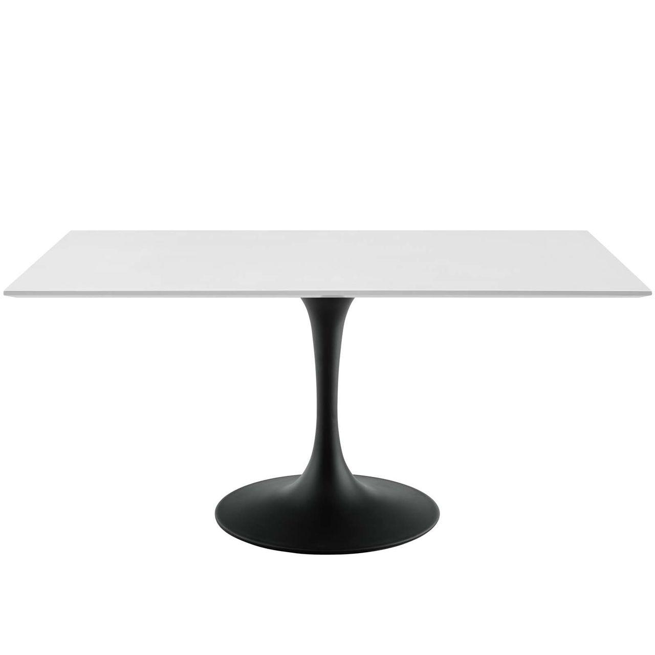 "Modway Lippa 60"" Rectangle Wood Dining Table - Black White"