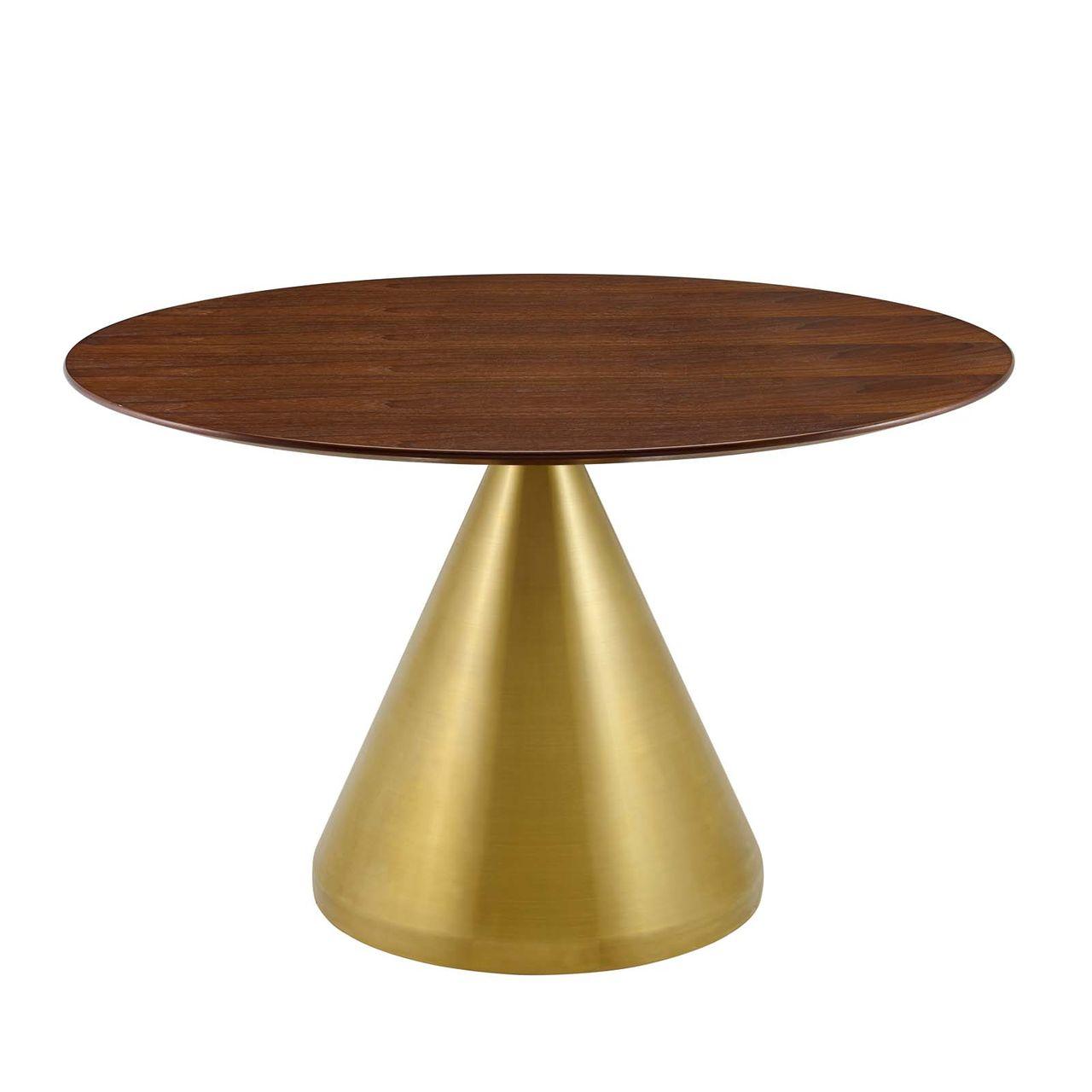 "Modway Tupelo 47"" Dining Table - Gold Walnut"
