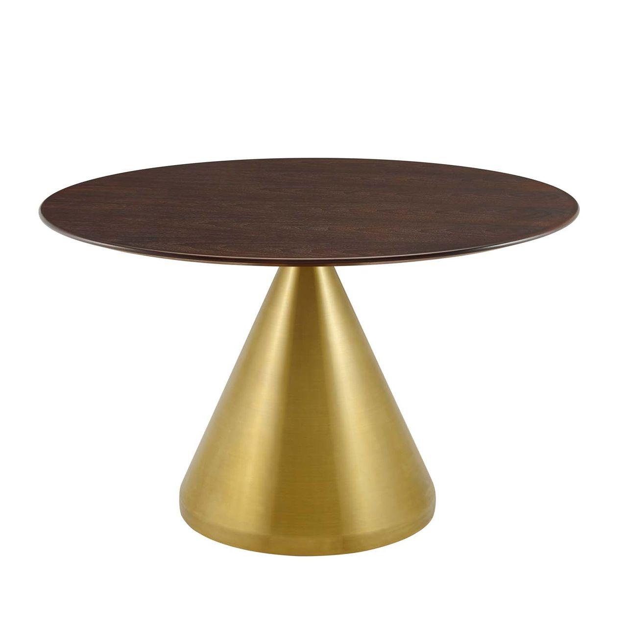 "Modway Tupelo 47"" Dining Table - Gold Cherry Walnut"