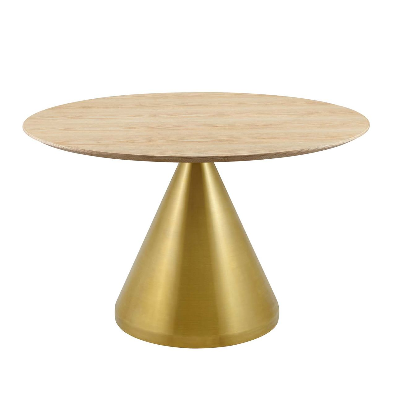 """Modway Tupelo 47"""" Dining Table - Gold Natural"""