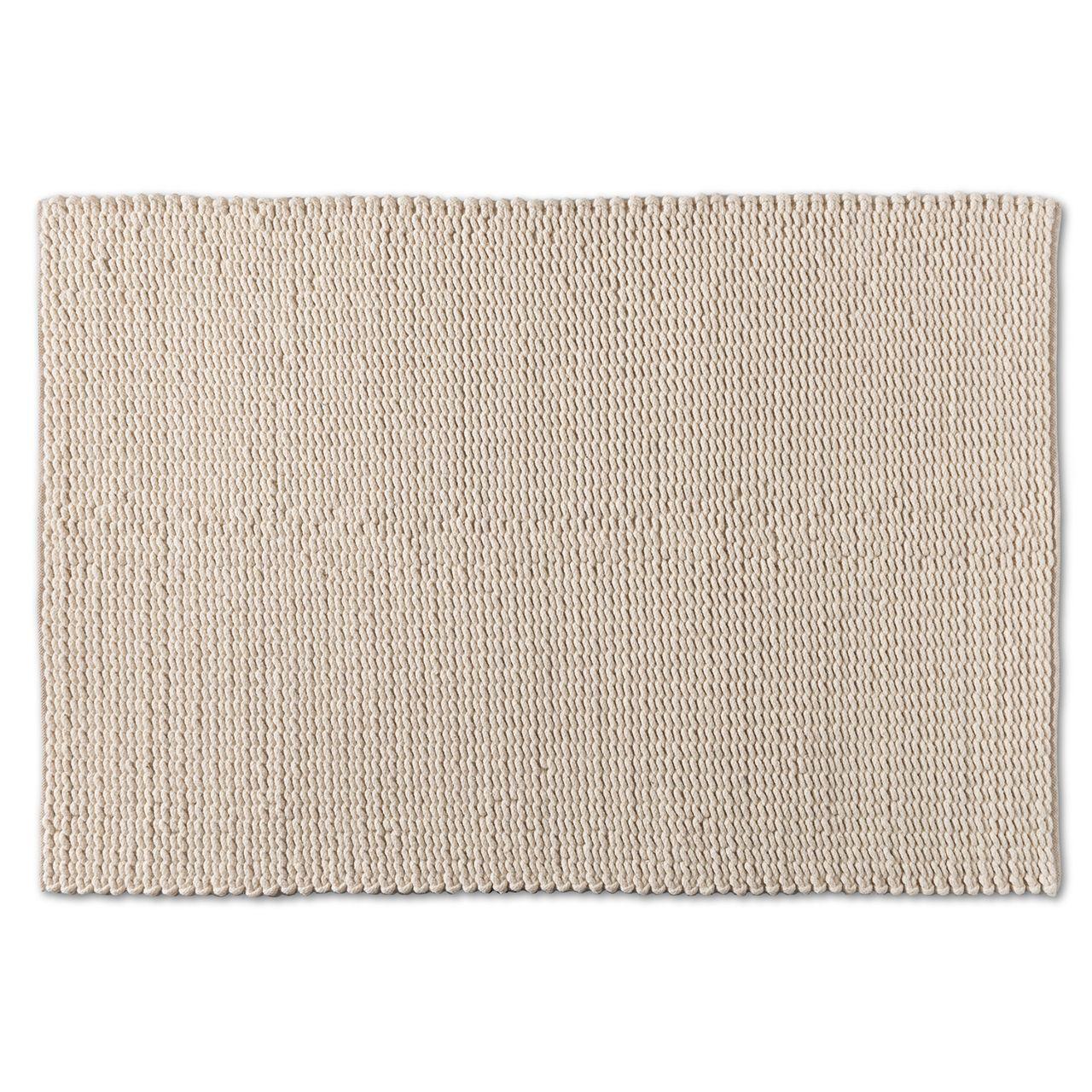 Baxton Studio Alvero Ivory Handwoven Wool Blend Area Rug