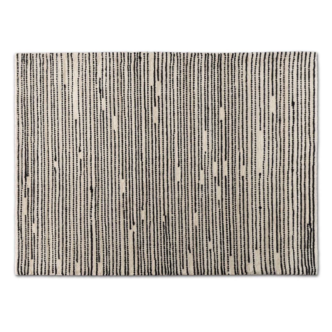 Baxton Studio Amorica Black/Ivory Handwoven Wool Area Rug