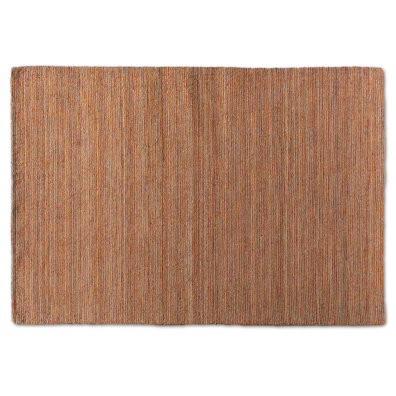 Baxton Studio Aral Rust Handwoven Wool Area Rug