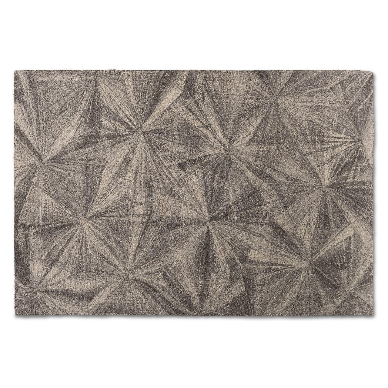 Baxton Studio Barret Grey Hand-Tufted Wool Area Rug
