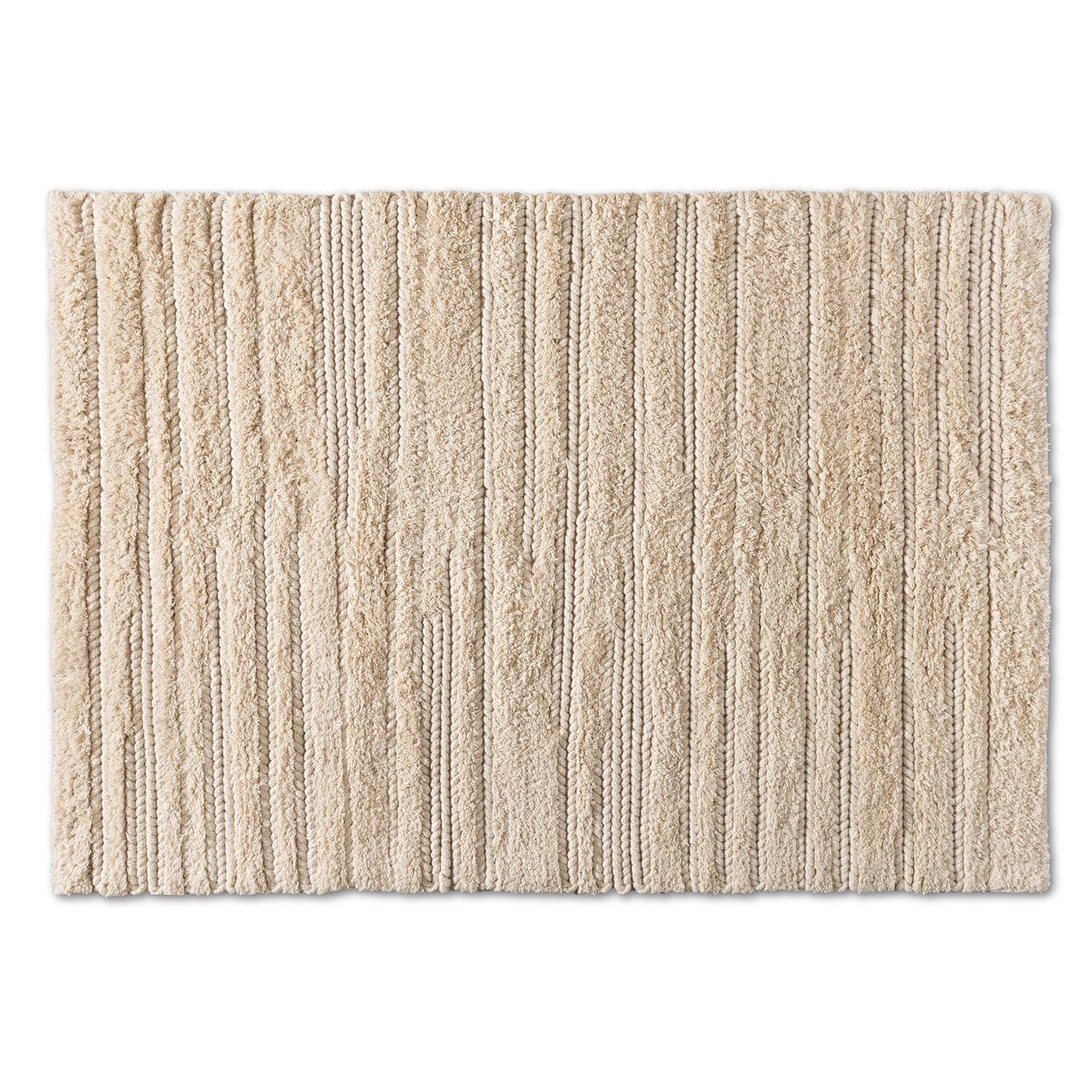 Baxton Studio Delmas Ivory Handwoven Wool Area Rug