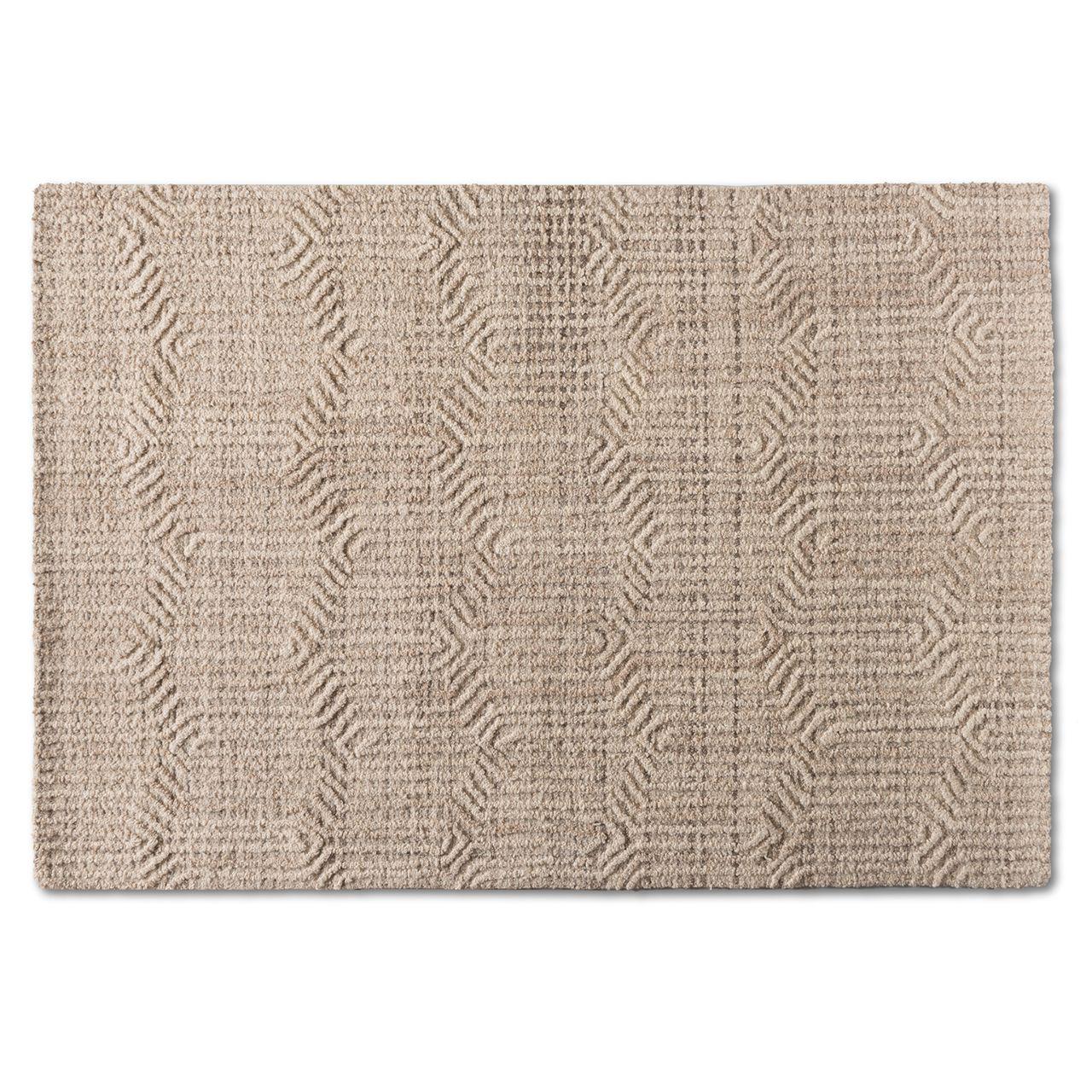 Baxton Studio Judian Ivory Handwoven Wool Area Rug