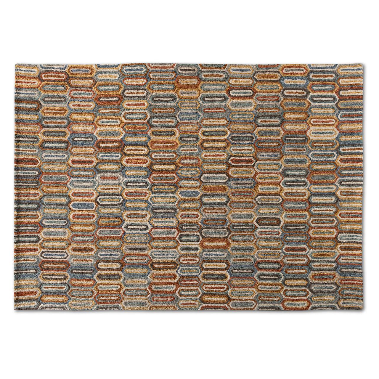 Baxton Studio Kavir Multi-Colored Hand-Tufted Wool Area Rug