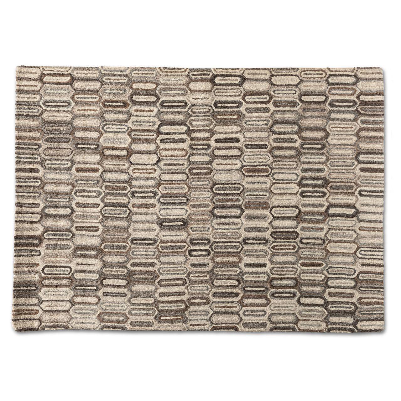 Baxton Studio Kavir Natural Brown Hand-Tufted Wool Area Rug