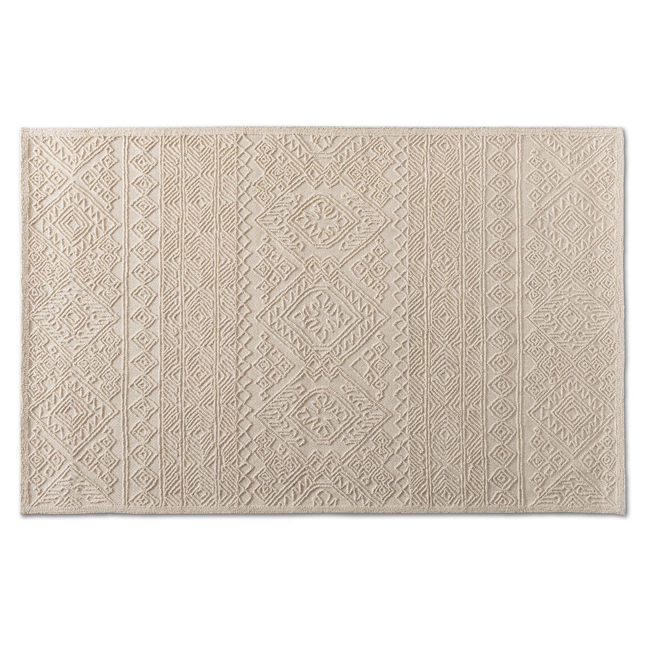 Baxton Studio Linwood Ivory Hand-Tufted Wool Area Rug