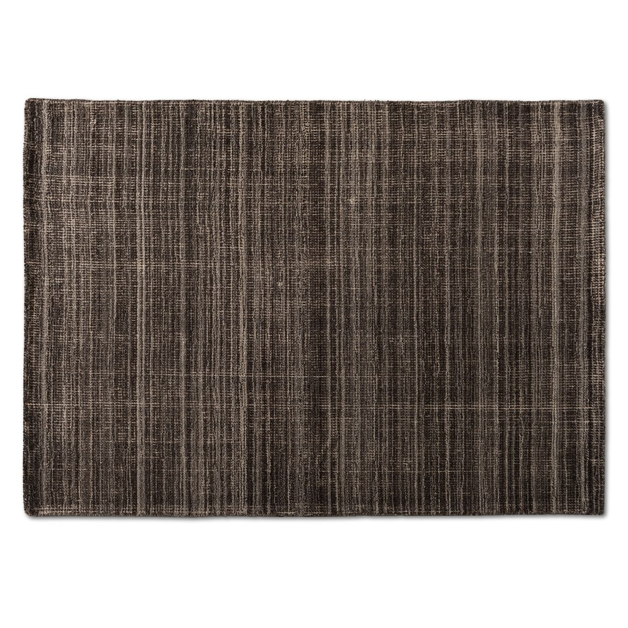 Baxton Studio Medanos Charcoal and Ivory Handwoven Wool Area Rug