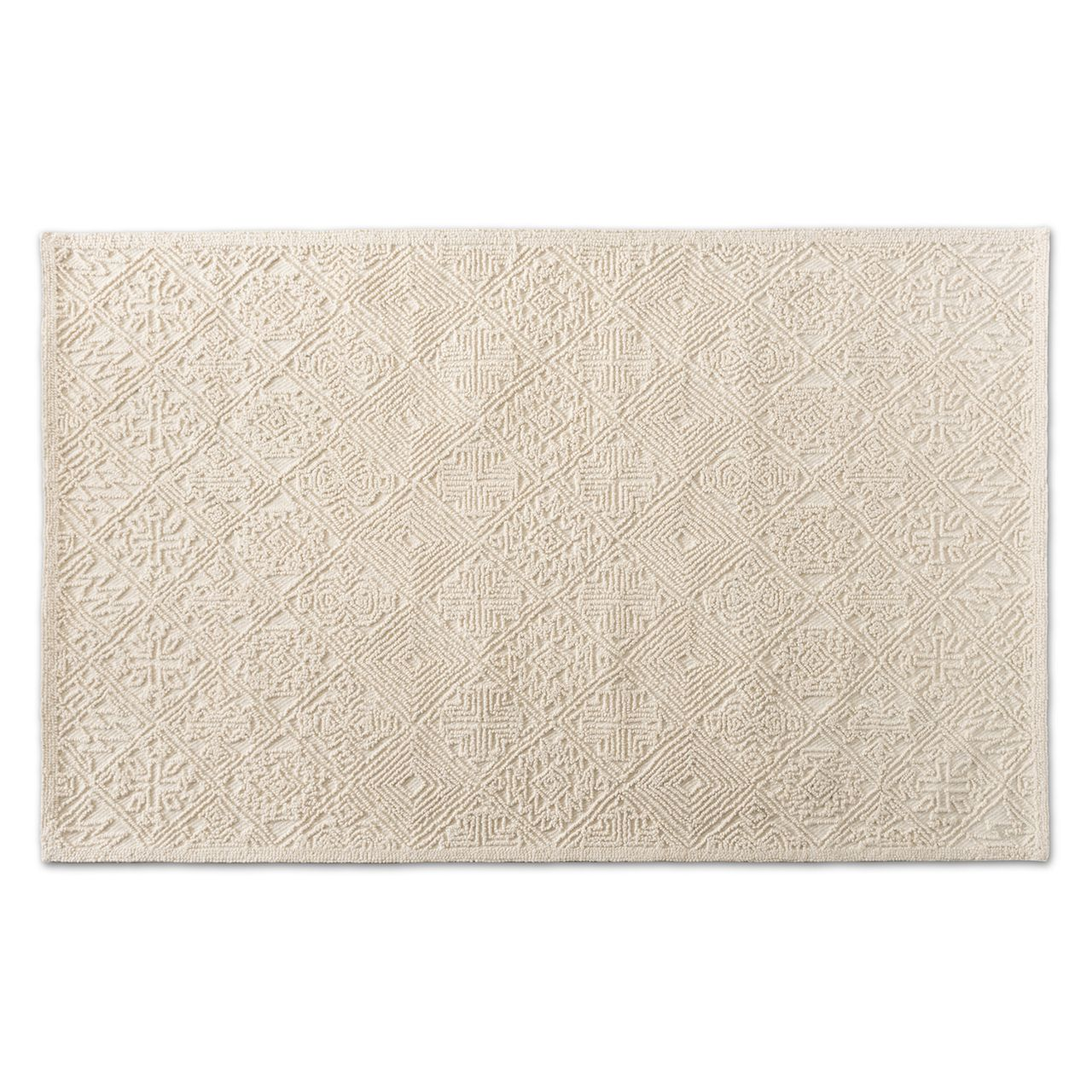 Baxton Studio Meltem Ivory Handwoven Wool Area Rug