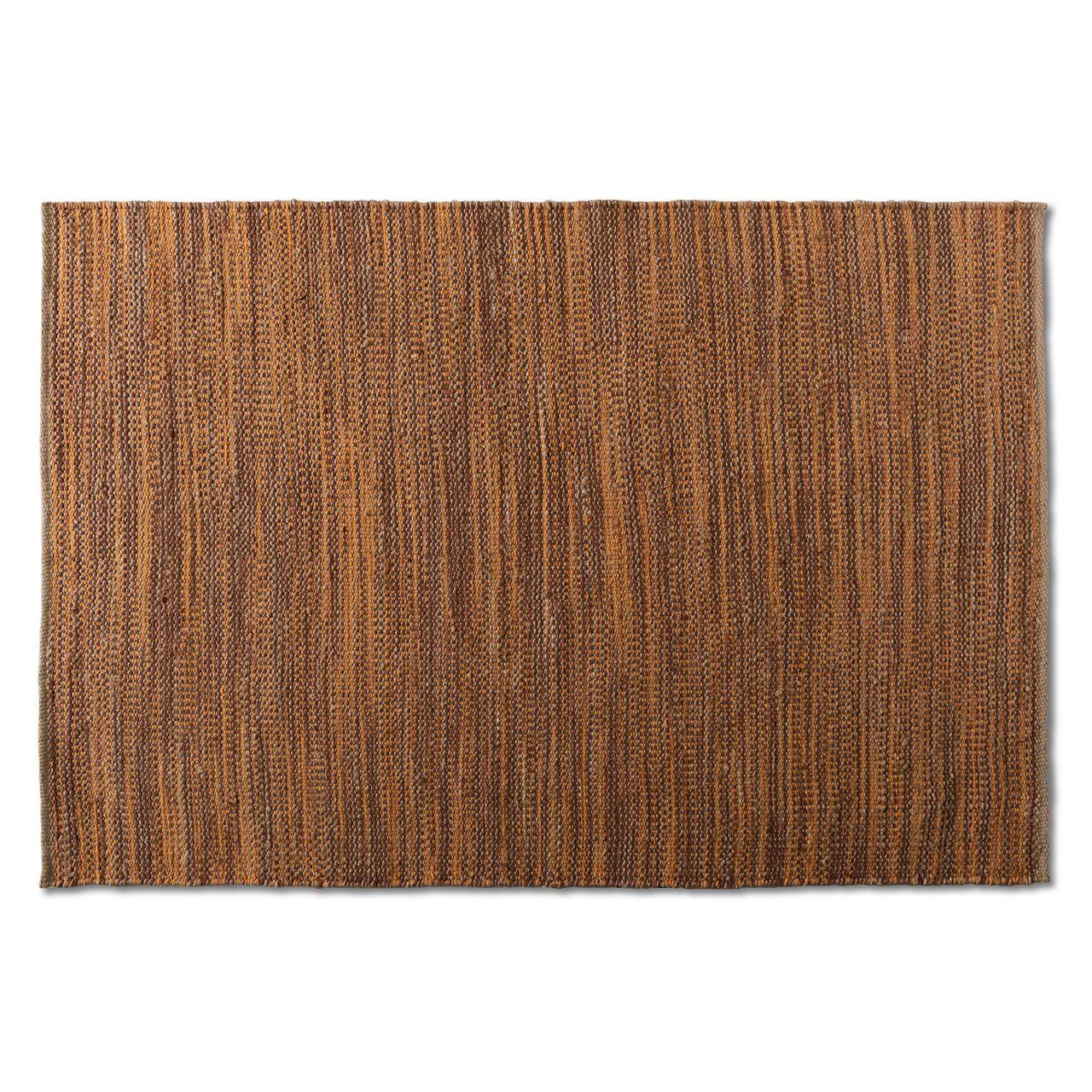 Baxton Studio Michigan Rust Handwoven Hemp Blend Area Rug