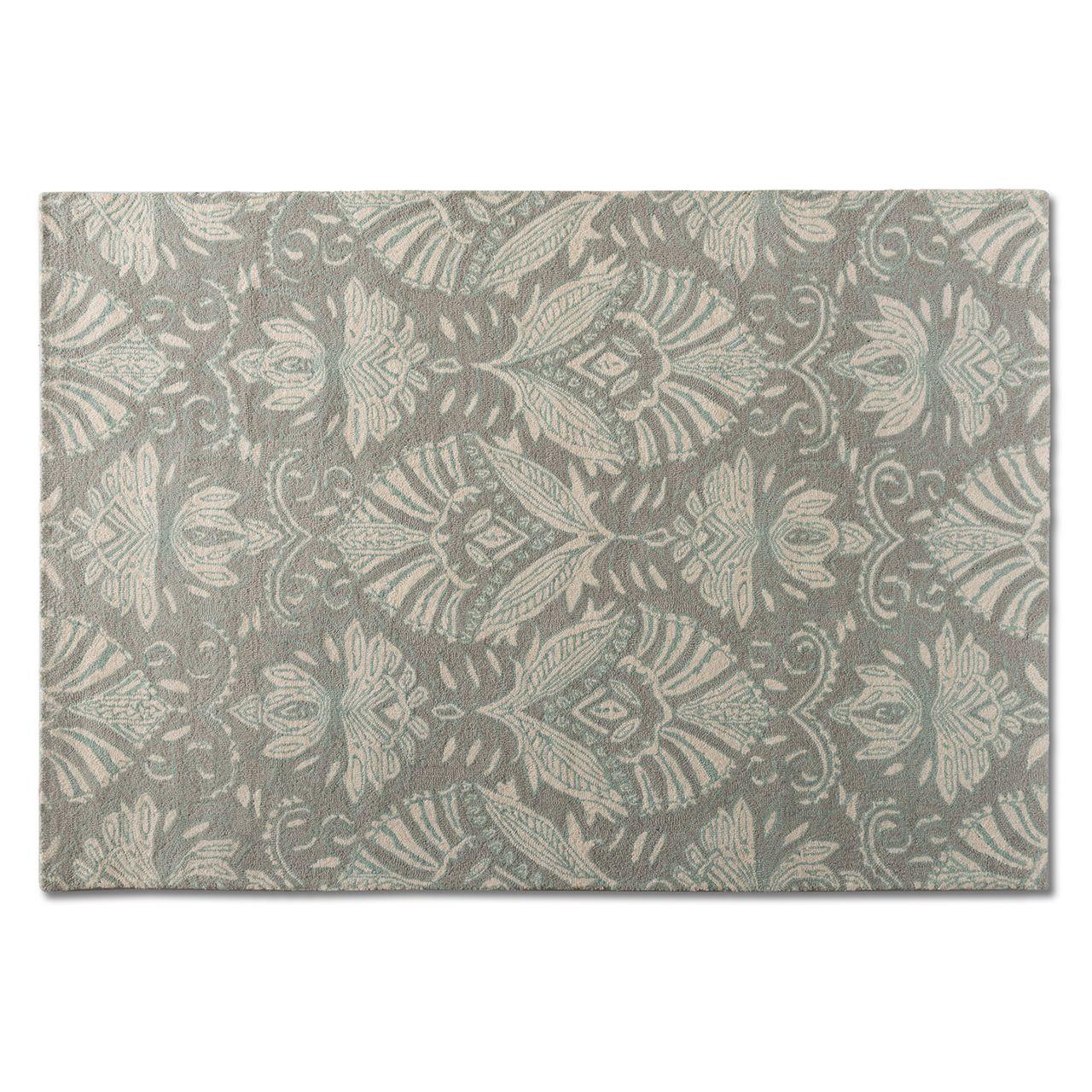 Baxton Studio Morain Grey Hand-Tufted Wool Area Rug