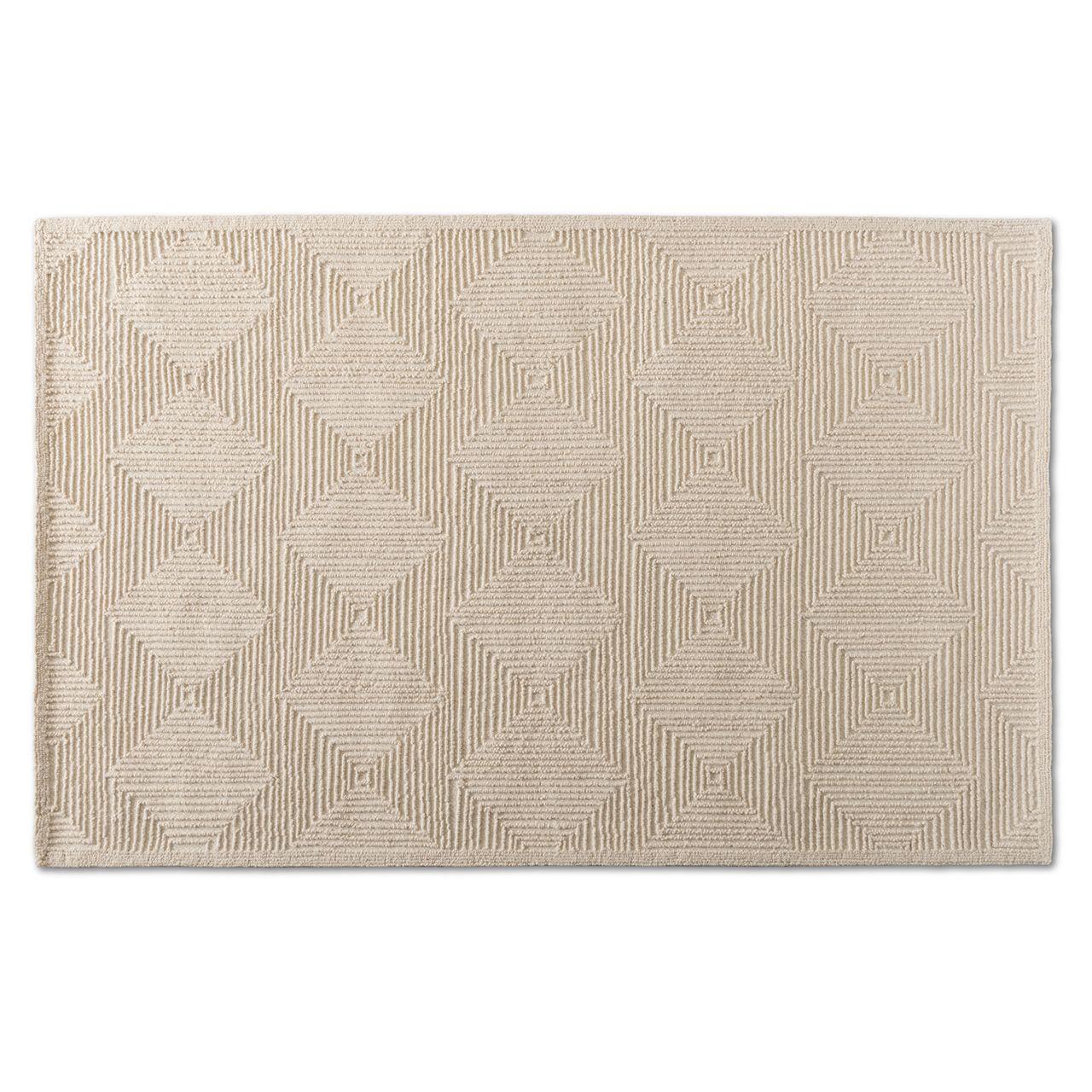 Baxton Studio Sovanna Ivory Hand-Tufted Wool Area Rug