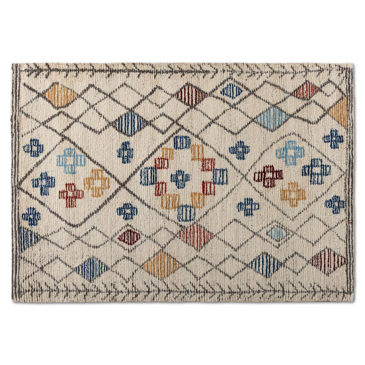 Baxton Studio Triton Multi-Colored Hand-Tufted Wool Area Rug