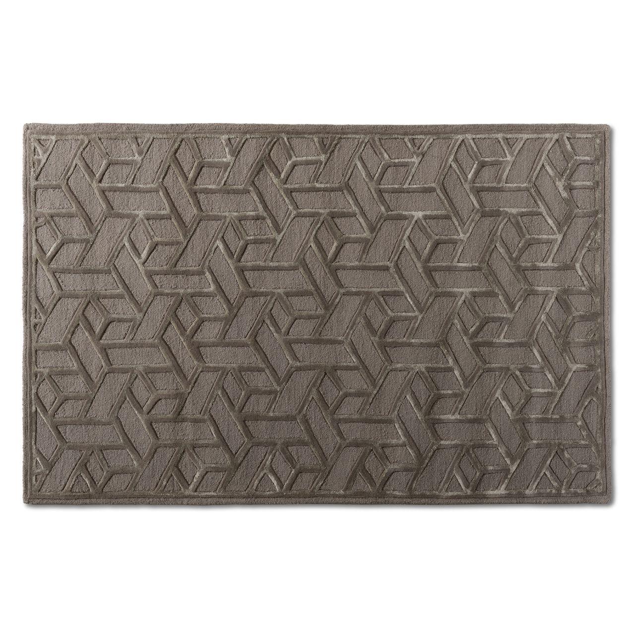 Baxton Studio Vigo Grey Hand-Tufted Wool Blend Area Rug