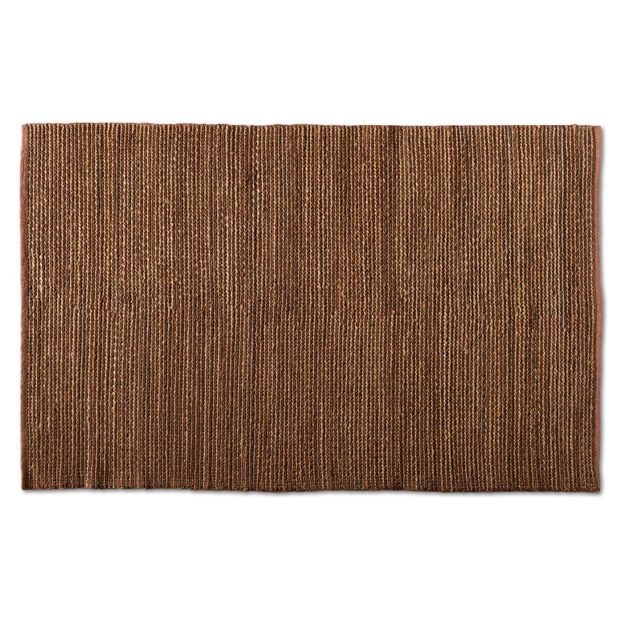 Baxton Studio Zaguri Natural Handwoven Leather Blend Area Rug