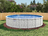 "24' Stoneleigh Round Above Ground Pool, Mardi Gras Liner & 52"" Wall"