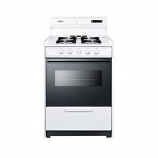 """Summit 24"""" Deluxe Gas Range with Electronic Ignition - White WNM6307DK"""