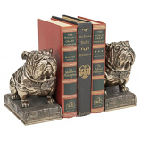 Bulldog Mascot Bookends By Design Toscano