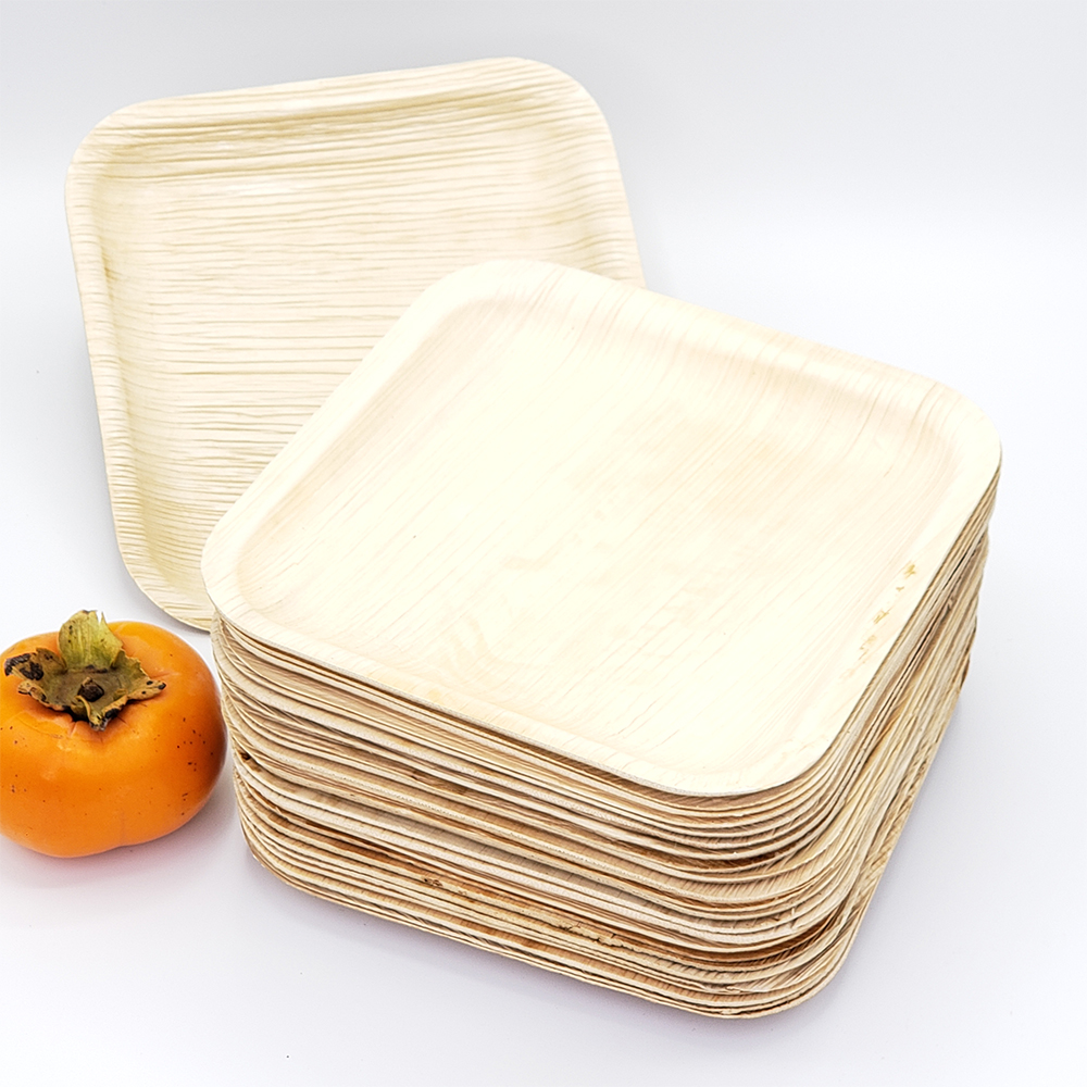 """BBQ Dragon 10"""" Palm Leaf Heavy Duty Disposable Plate - Set of 25"""