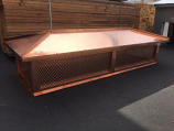 "Copper Mesh Screen Chimney Shroud, 34 x 34 x 18 - Mesh: 5/16"""