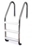 """Swimline 87900 3-Step Inground Stainless Steel Ladder 61.75"""" Height"""