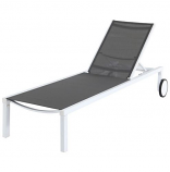 Almo PYTNCHS-W-GRY Peyton Sling Armless Chaise Lounge in White-Gray