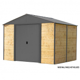 Ironwood Steel Hybrid Shed Kit 10 x 8 ft. Galvanized Anthracite