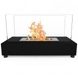 Regal Flame ET7010BK Avon Tabletop Portable Bio Ethanol Fireplace in Black