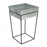 Achla FB-46G7 Tall Arne Stand with Deep Galvanized Tray